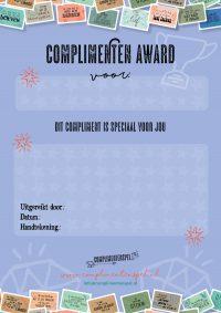 Complimenten award Speciaal voor jou