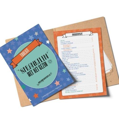 """Complimenten toolkit Productfoto """"Sprankelen met het gezin"""" cover en inhoudsopgave"""